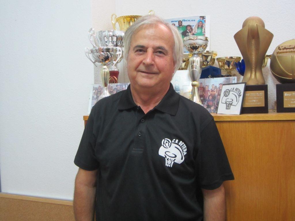 Juan Sáez. Presidente Club Baloncesto Bétera